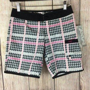 Reef NWT Scout Black & Pink Board Shorts Sz 0/